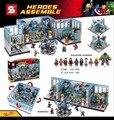Marvel super heroes Мстители MOC база строительный блок Ironman Алые Ведьма Ultron Тор Видения Халк Баннер com. legoeinglys. игрушки