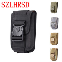 SZLHRSD Universal Military Tactical Holster Hip Belt Bag Waist Phone Case For BlackBerry Motion Oukitel Mix