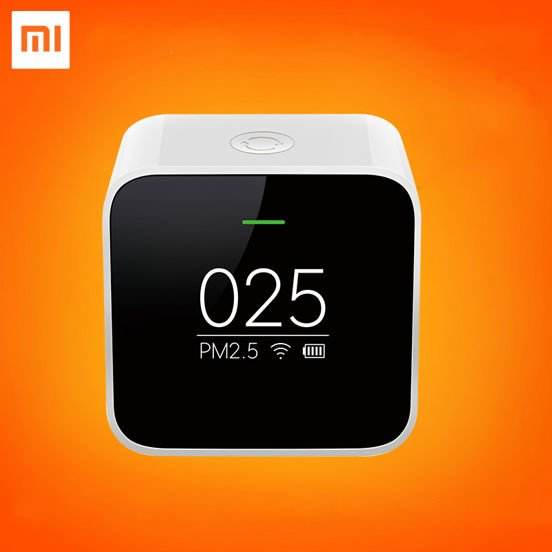 2017 Original Xiaomi Smart PM2.5 Air Portable Detector OLED Wifi Screen 2.4 GHZ Use With Air Quality Air Purifier xiaomi pm 2 5 air detector анализатор воздуха white