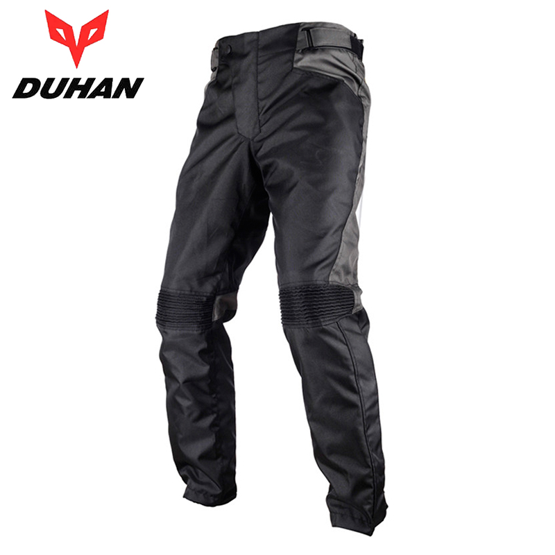 DUHAN Motorcycle Pants Men's Motorcycle Racing Sports Moto Pants Oxford Cloth Riding Protective Pantalon with Two Knee Protector scoyco motorcycle riding knee protector bicycle cycling bike racing tactal skate protective gear extreme sports knee pads