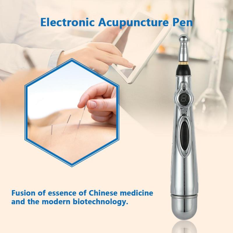 1Pc New Electronic Acupuncture Pen Massage Body Head Neck Leg Massager Pain Relief Beauty Health Care Tool RS40 new design product good neck hammock for neck pain relief neck relief fatigue door handle hanging head neck hammock