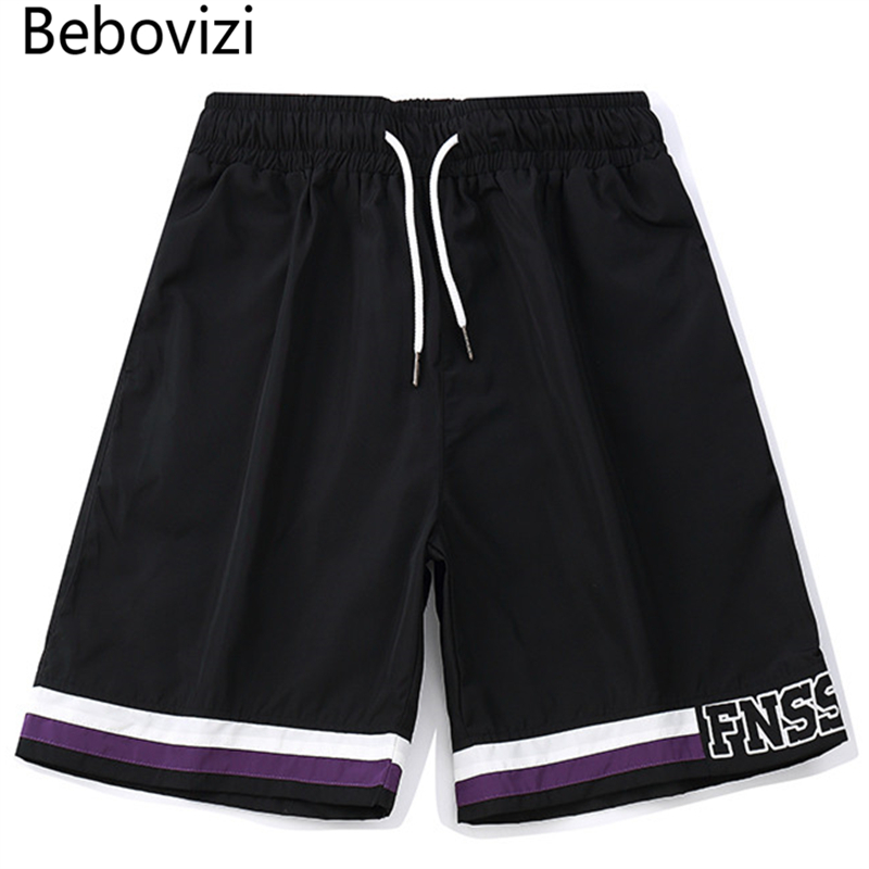 Bebovizi Brand Fashion Striped Shorts Mens Sweatpant 2018 Men Summer Jogger Short Streetwear Hip Hop Shorts Casual Knee Length