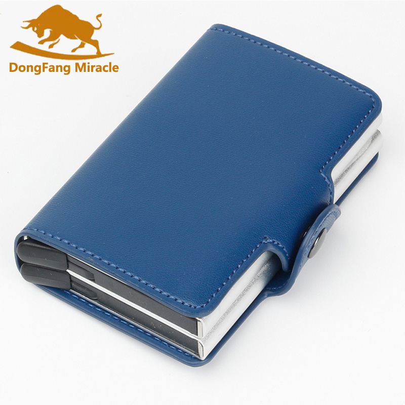 2018 Men And Women Business Credit Card Holder Metal RFID Double ...