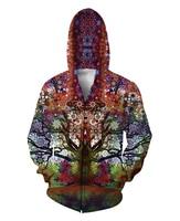 Trip Tree Zip Up Hoodie trippy 3d Print Fashion Clothing Women Men Tops Casual Zipper Sweatshirts Outfits Coats Sweats