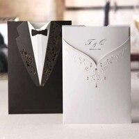 Nowy Projekt Kieszeń Elegancki Zestaw Narzeczona Groom Zaproszenia Ślubne Flower Rose Puste Papieru Druku Zestaw Wolne Drukowanie Karty Zaproszenie