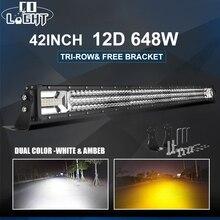 CO LIGHT 42inch 12D Led Light Bar 648W Strobe Work 12V Combo 6500K 3000K for 4x4 Trucks Jeep Offroad Driving