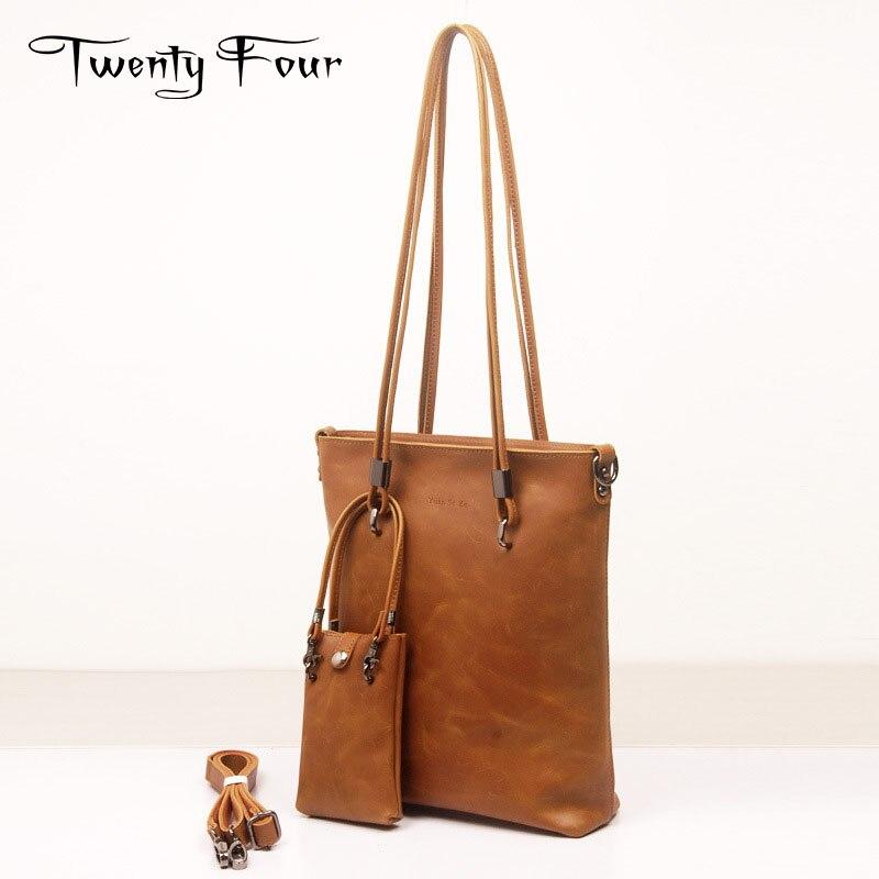 Twenty-four New Fashion Genuine Leather Woman Shoulder Bags Famous Brand Luxury Handbags Women Bags Designer Totes Women B цена и фото