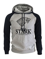 2018 Raglan Hoodies For Men House Stark The Song Of Ice And Fire Winter Is Coming