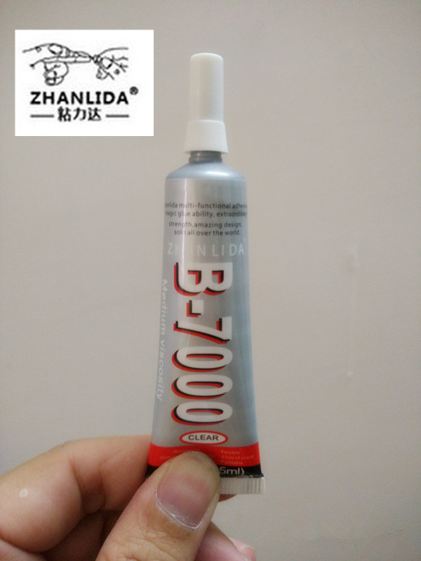 ZHANLIDA 1PCS Set 15ML Multi purpose adhesive B7000 DIY Tool cellphone samsung iPhone LCD Touch Screen middle Frame housing Glue 15ml b7000 multipurpose adhesive diy tool jewelry rhinestones fix touch screen phone middle frame housing glass tube glue b 7000