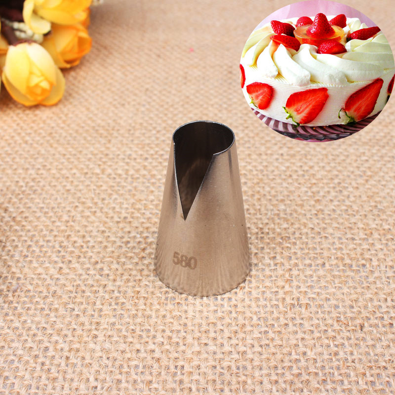 1Pcs Large Size #580 Flower Icing Piping Tips Nozzle High Quality 304 Stainless steel Pastry Nozzles DIY Cake Decorating Tools