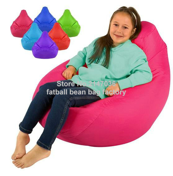 KIDS Tall Gamer Bean Bags Beanbag High Back Gaming Bag - UK original Children bean lounger gamer