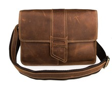 Free Shipping JMD Men Messenger Bag Crazy Horse Leather Shoulder Crossbody # 7263B