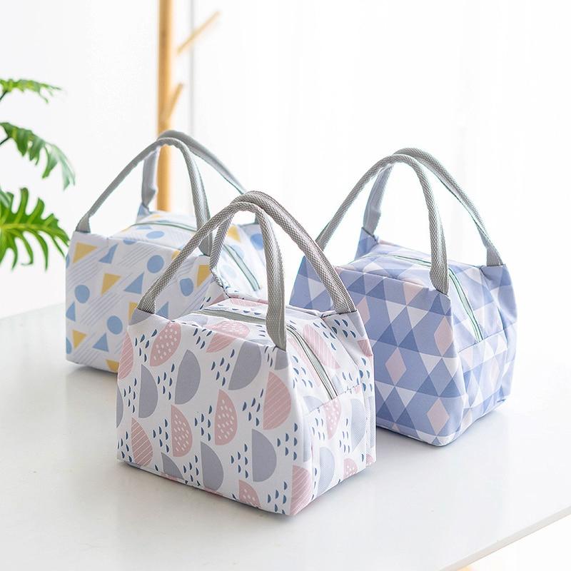 Fashion Portable Thermo Bag Baby Bottle Baby Food Storage Insulation Bags Baby Feeding Bags  Handbag Food Lunch Bag
