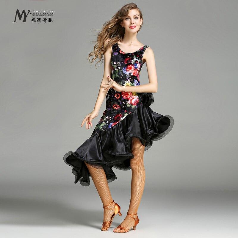 New Sale Woman Fashion Latin Dance Costume Ballroom Tango Rumba Chacha dress dance competition wear 756