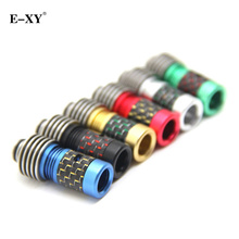 E-XY Heat sink with Carbon Fiber Drip tip 510 Wide Bore Mouthpiece fit 510 RDA Atomizer Tank Electronic Cigarette accessories