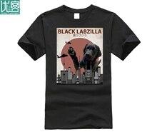 2019 Hot sale Fashion 100% cotton Black Labzilla Funny Labrador Retriever Lab Dog T-Shirt Tee shirt