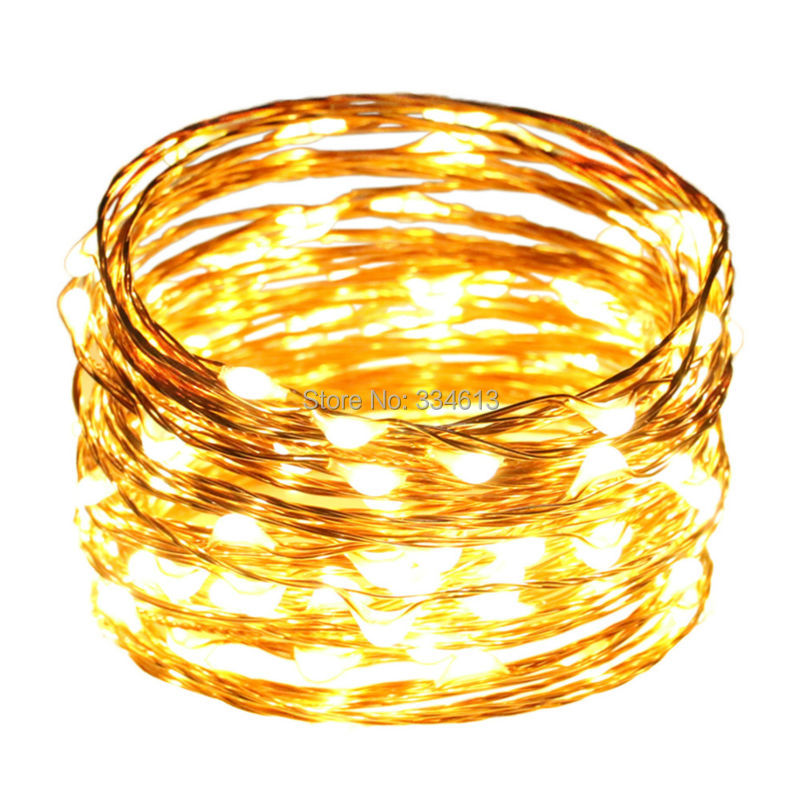 10M 33FT 100 LEDs Copper Wire LED String Lights Starry Christmas Holiday Lights with Corded Power