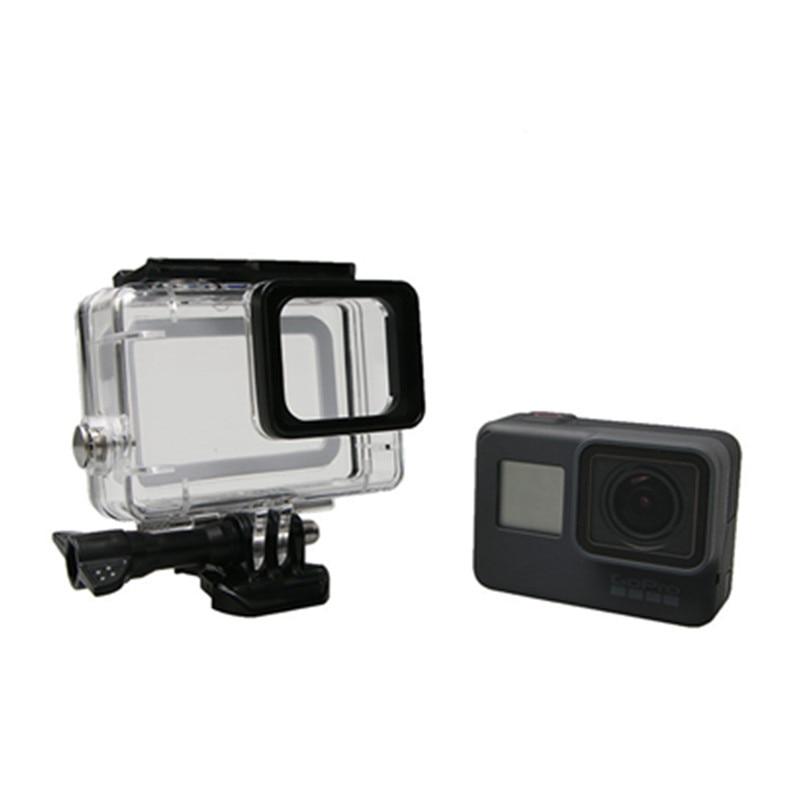 Sualtı Su Geçirmez Konut Case Go Pro Hero 6 5 45 M GoPro Hero 5 6 - Kamera ve Fotoğraf - Fotoğraf 5