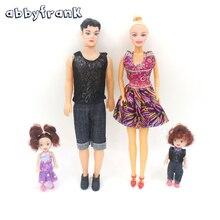 Abbyfrank 4 шт./компл. семья игрушки куклы Одежда Пакет съемные суставы Принцесса Принц кукла бойфренда игрушки игры Playmate для детей