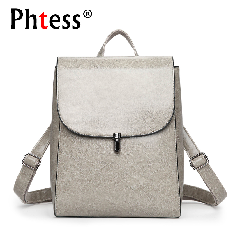 Ladies Leather Backpacks For Teenage Girls Women Vintage Backpack Brand Designer Sac a dos Female Bagpack Mochila School Bags women genuine leather backpack luxury soft solid large capacity school bag ladies travel backpacks sac a dos mochila 2017 new