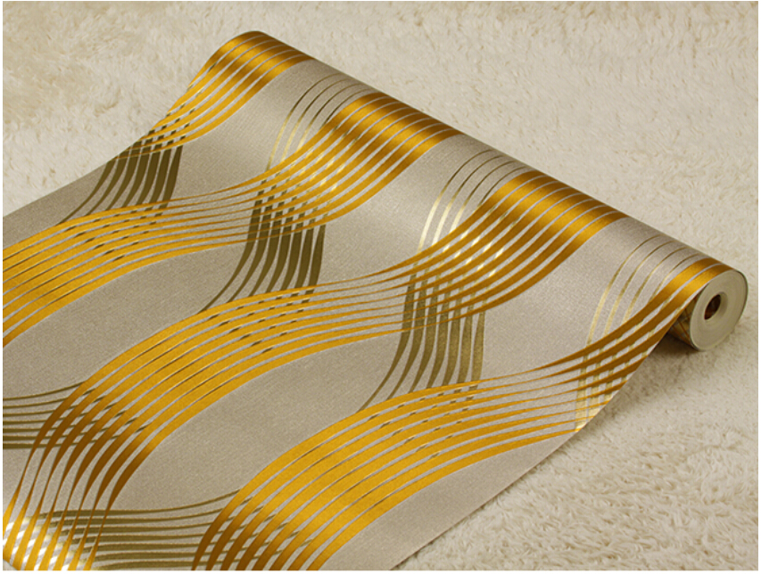 Popular brown stripe wallpaper buy cheap brown stripe for Cheap modern wallpaper