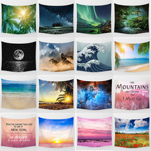 Hot sale beauty landscape large tapestry Wall Hanging Printed home decoration bedroom Medium