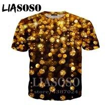 6ffe398e830 LIASOSO Anime 3d print t shirt Men Women fashion Harajuku t-shirt 2018  Glitter new