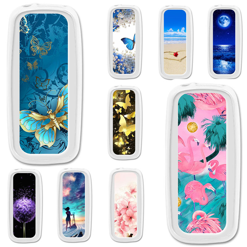 TPU <font><b>Cases</b></font> For <font><b>Nokia</b></font> <font><b>105</b></font> <font><b>2017</b></font> <font><b>Case</b></font> Silicone Floral Painted Bumper For <font><b>Nokia</b></font> <font><b>105</b></font> <font><b>2017</b></font> TA-1010 1.8 inch Phone Cover Soft Fundas image