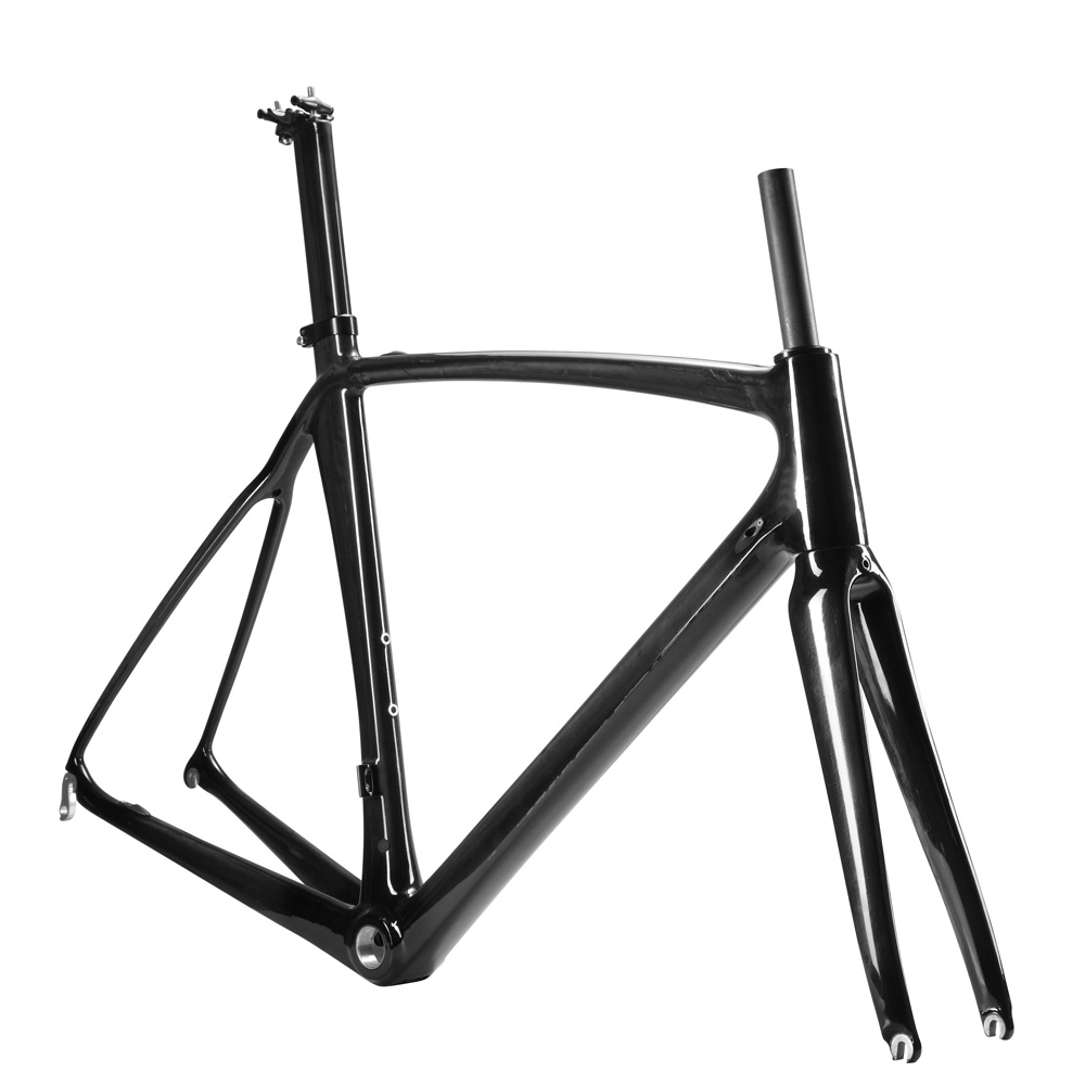 OG-EVKIN Hot 2018 Carbon Road Frame Bicycle Frame Carbon Road Bike Frameset DI2 Racing Bike 700C 56cm Super Light UD Glossy BSA 2018 carbon fiber road bike frames black matt clear coat china racing carbon bicycle frame cycling frameset bsa bb68