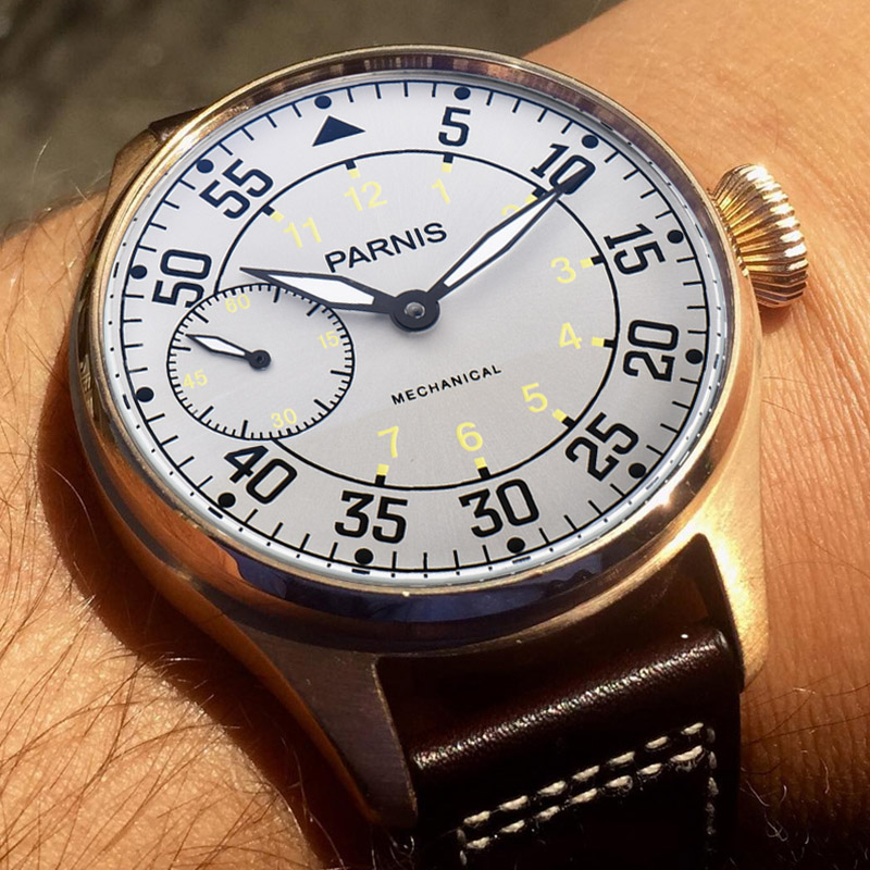 Parnis 44mm Handaufzug Mechanische Uhren 17 Juwelen Bewegung Leucht Hand Wind Uhr Handgelenk Uhren Reloj Hombre 2018 Luxus-in Mechanische Uhren aus Uhren bei  Gruppe 3