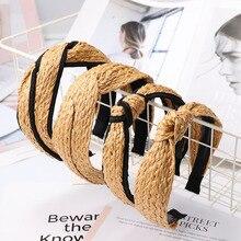 ¡Novedad de 2019! diademas Vintage bohemias hechas a mano trenzadas de ratán, accesorios para el cabello para mujer, diademas de caña