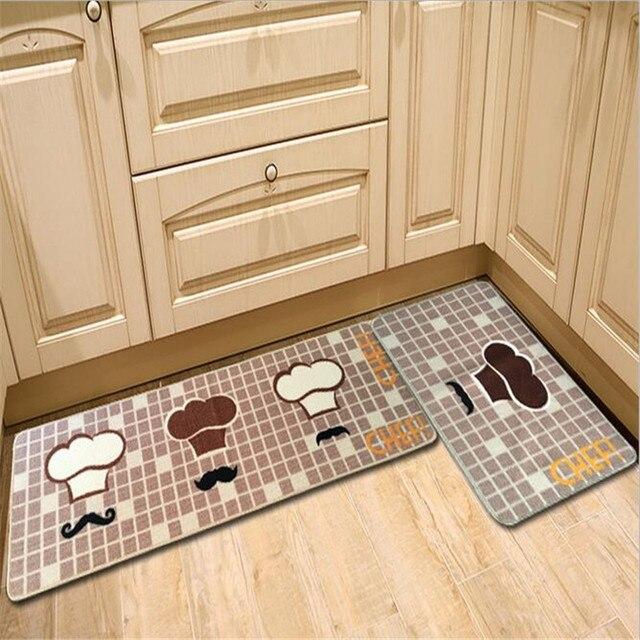 Polyester Gedruckt Küche Matten Teppich Boden Komfortable Fußmatte ...