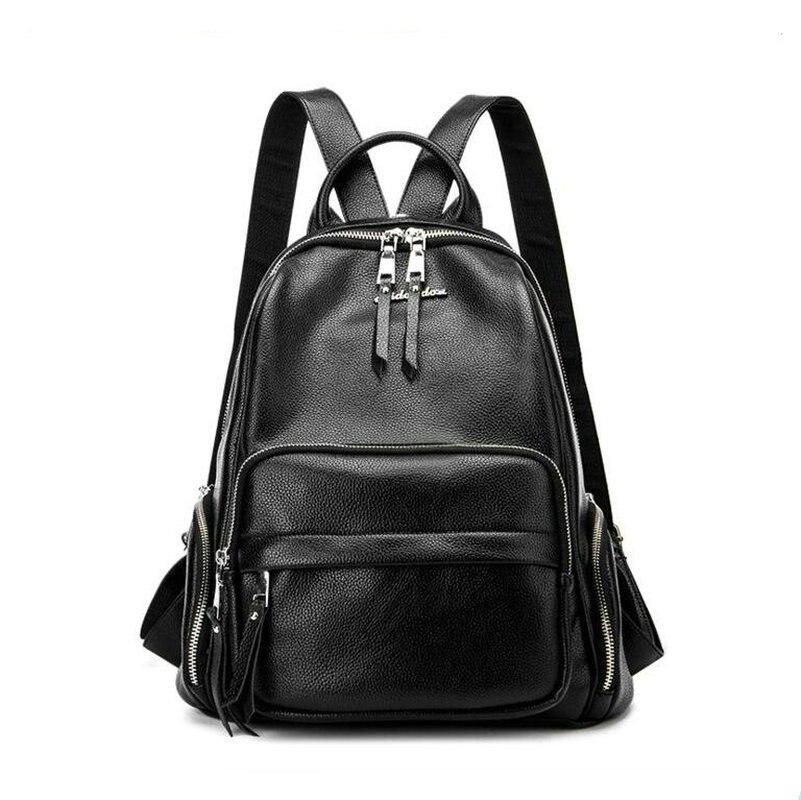 Nouveau sac à dos pour femmes japon corée sac à dos de voyage scolaire pour adolescentes filles sac à dos en cuir véritable