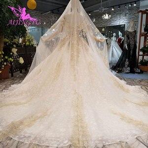 Image 3 - AIJINGYU Ivoor Dress Toga Shenzhen Vintage 3D Luxe Bridal Middeleeuwse Kant Unieke Gown Goedkoop Trouwjurken Buurt Me