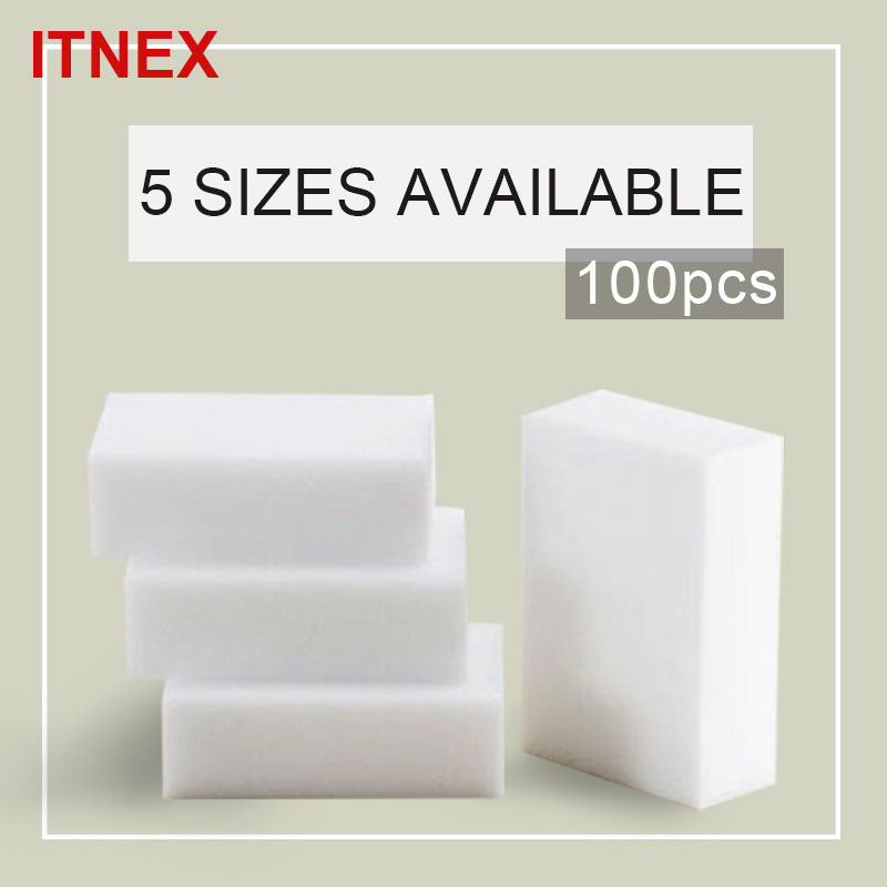 Home & Garden Sponges & Scouring Pads Buy Cheap 100*60*20mm Melamine Sponge Eraser Melamine Cleaner Eco-friendly White Kitchen Magic Eraser Magic Cleaning Sponge 100pcs/lot