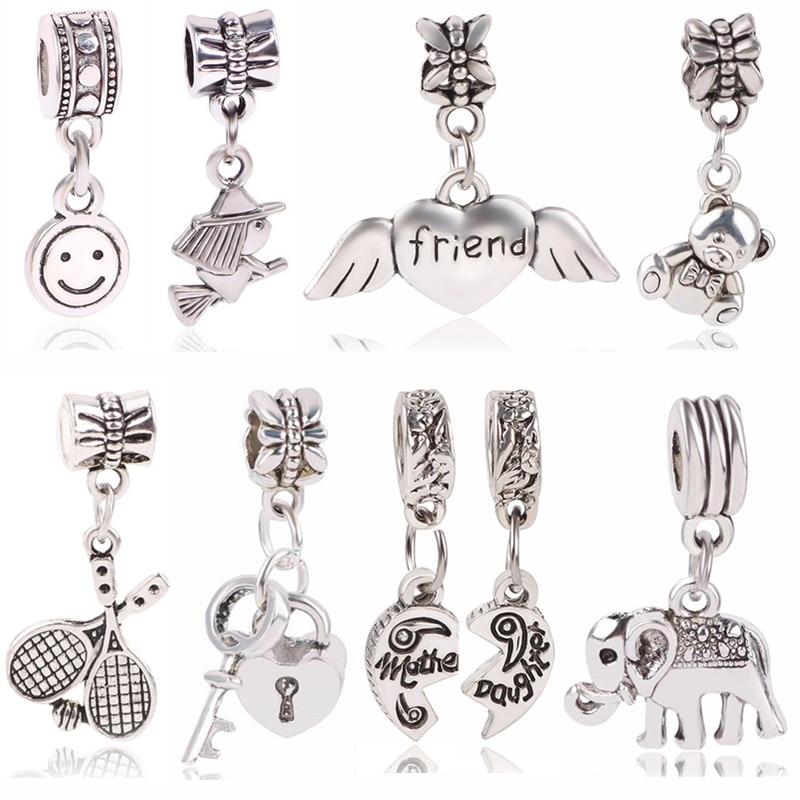Silver Orb Heart Cross Earrings Pearl White Necklace Bridal Jewellery Set S982
