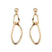 Independent design geometric ornaments temperament is long Earrings fashion Stud earrings clever joker popular