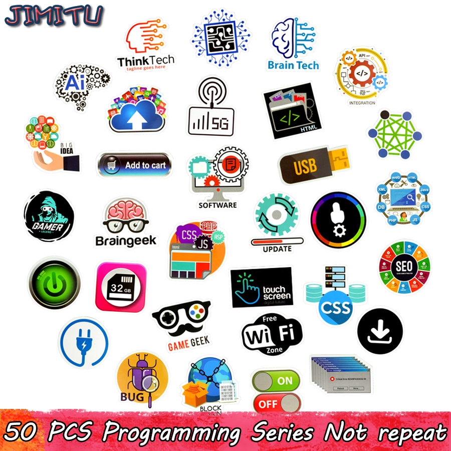 50-pcs-programming-sticker-technology-software-programs-data-creative-stickers-for-geek-diy-computer-laptop-phone-ps4-notebook