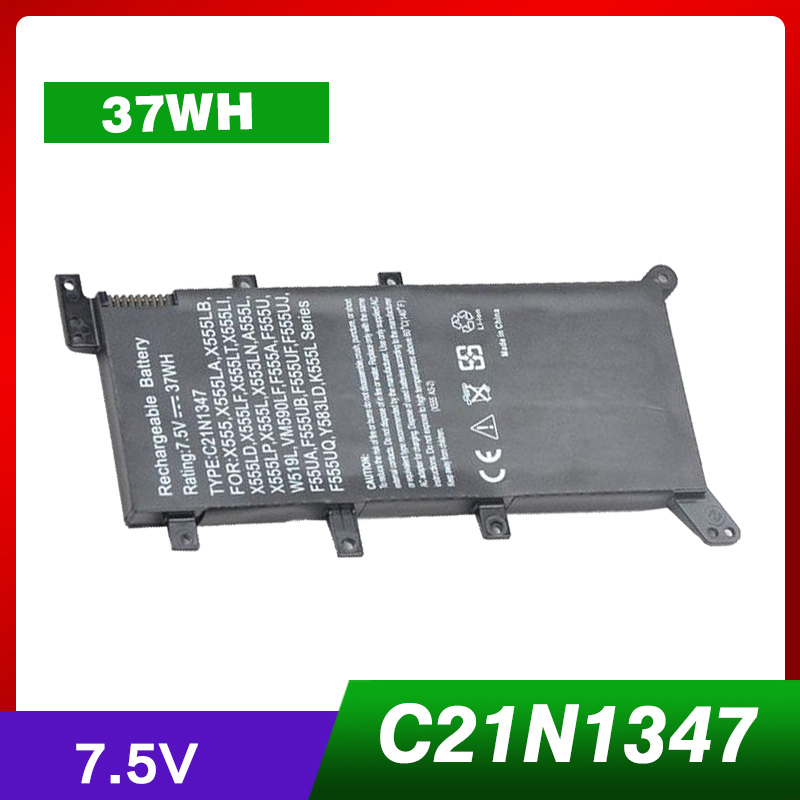 все цены на 7.5V 37Wh New Battery C21N1347 Laptop Battery For ASUS X555 X555LD F555A X555L X555LB X555LN F555U W519L X555LF X555LP F555UA VM