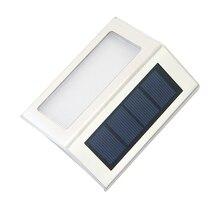 XGBTEL Solar Staircase Lights LED Corner Outdoor Garden Mini Stairway Wall White/Warm White 2pcs/Lot