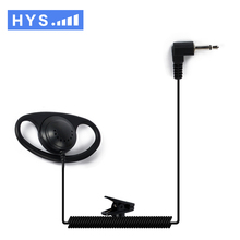 2017 HYS 3.5MM earphone Listen Only D Shape Walkie Talkie Headset