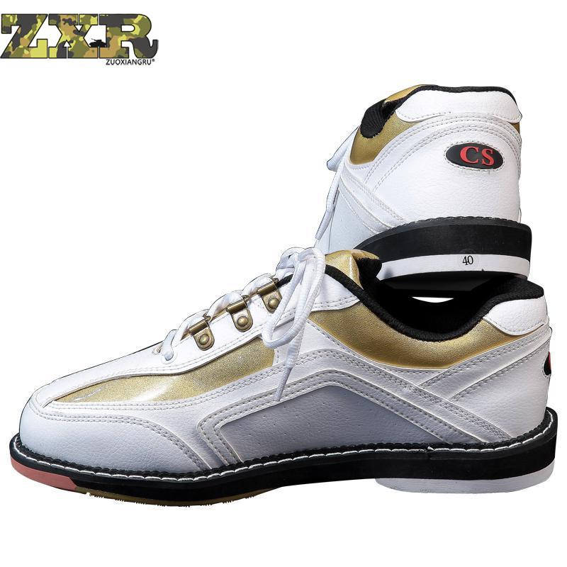 High Quality Unisex Bowling Shoes Right hand Anti skid Outsole Sneakers Genuine Leather Breathable Men Sneakers Reflective Shoes