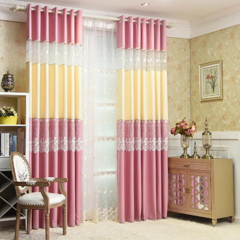 Online Shop Blue Pink Beige Blackout Short Curtains Tulle Window Curtain  Living Room Ready Made Curtains Drapes Cafe WP127C | Aliexpress Mobile