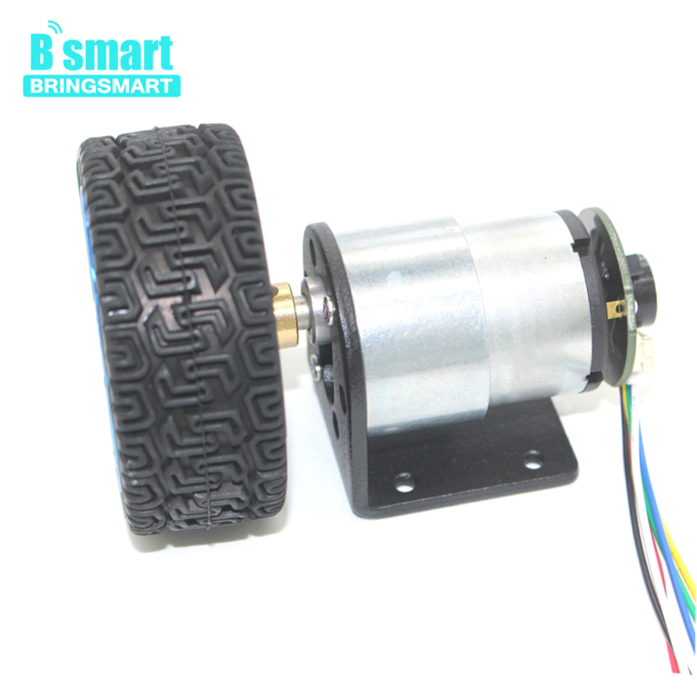 Wholesale JGB37-520 Micro Gear Motor 12V DC Motor 6V 7-1590RPM With Encoder Mounting Bracket Coupling And Wheel Toy Car Kits