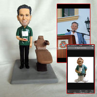 OOAK hand sculpted polymer clay figurines custom dollhouse dolls dentist mini statue sculpture birthday cake decoration gifts