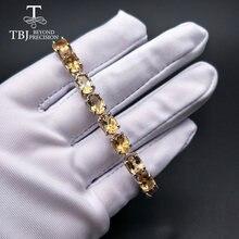 Браслет из серебра 925 пробы с натуральным овальным драгоценным