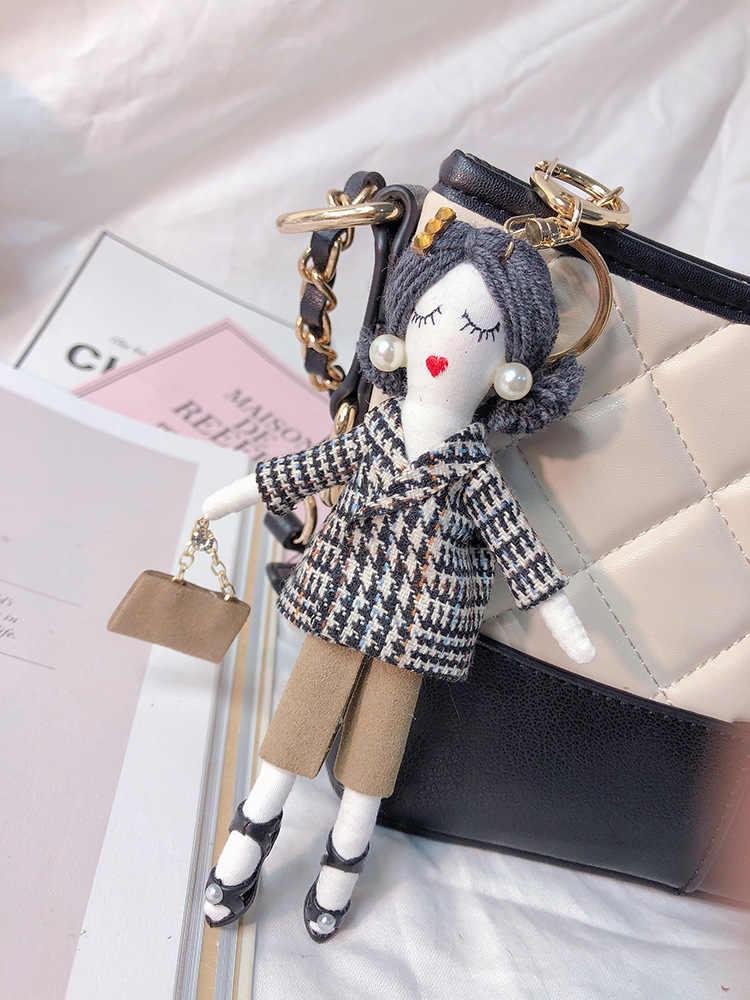 Real pele de vison chaveiro saco pompom charme chaveiro carro luxo jóias pingente namorada presente