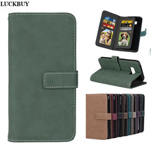 Фотография LUCKBUY Case for S8 S8Plus 9 Card Slots Matte Wallet flip PU Leather Cover Phone Bags with Stand for Samsung Galaxy S8 S8 Plus