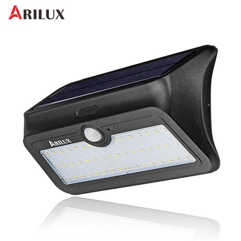 ARILUX AL-SL13 SMD 2835 46 LEDs Solar Power Wall Light PIR Motion Sensor Garden Lamp Waterproof Security Outdoor Lamp