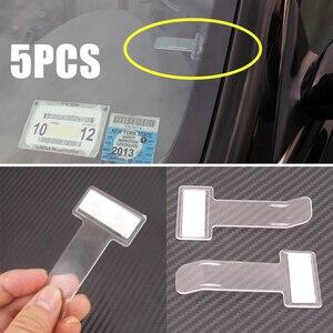Image 2 - 5pcs Car Styling Parking Ticket Clip Auto Fastener Card Bill Holder Organizer Windshield Stickers  75 x 40mm Mayitr